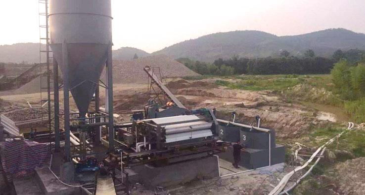 belt filter press sludge dewatering