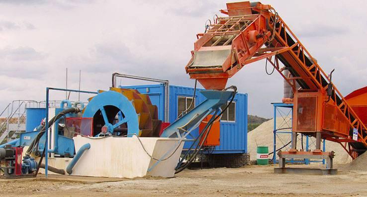 Sand washing & recycling machine