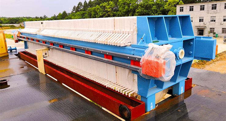 sludge dewatering filter press